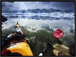 Paddling, Kalifornia, USA, Mono, Kajak, Lake